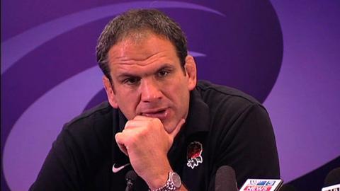 England team manager Martin Johnson