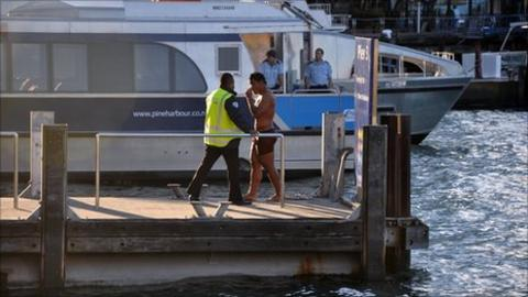 Manu Tuilagi in Auckland harbour