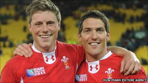 James Hook (right) takes over from Rhys Priestland
