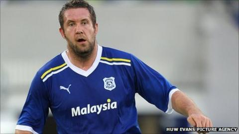 Cardiff City striker Jon Parkin