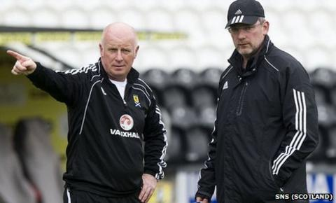 Peter Houston (left) is assistant to Scotland manager Craig Levein