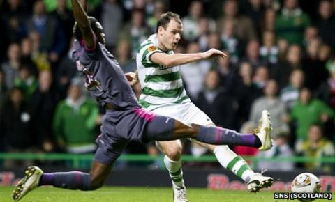 Anthony Stokes scores for Celtic against Rennes