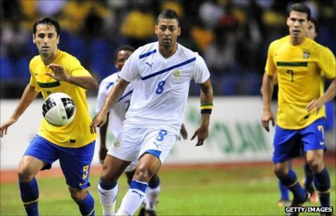 Gabon versus Brazil friendly