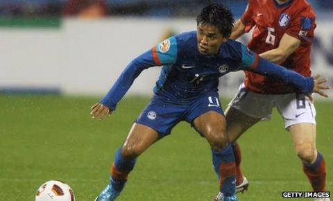 Sunil Chhetri in action for India