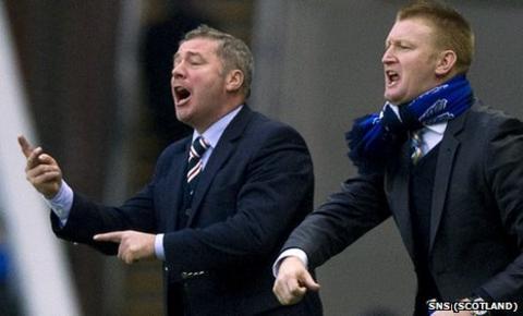Rangers boss Ally McCoist (left) and St Johnstone counterpart Steve Lomas