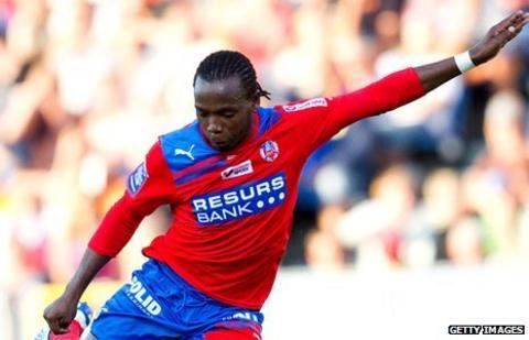 Helsingborg's South African midfielder May Mahlangu