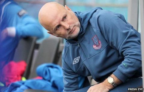 Ballymena United manager Roy Walker