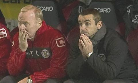 St Mirren manager Danny Lennon (right) with assistant Tommy Craig