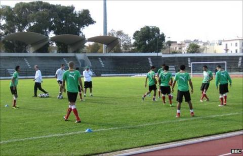 Morocco's Olympic squad in training