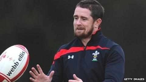 Wales wing Shane Williams enjoys his final Wales training as a player