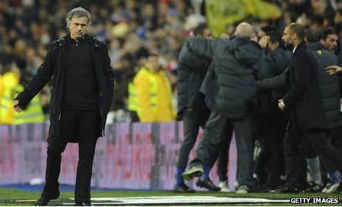 Jose Mourinho has won only one of his eight matches against Barcelona as Real Madrid boss
