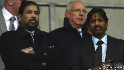 Blackburn Rovers owners Balaji Rao (left) and Venkatesh Rao (right), directors of Venky's