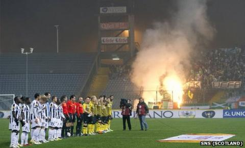 Celtic fans have come in for criticism for their behaviour in Italy