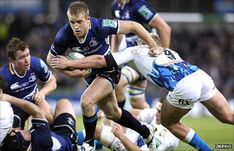 Luke Fitzgerald scored two tries in Leinster's win over Bath