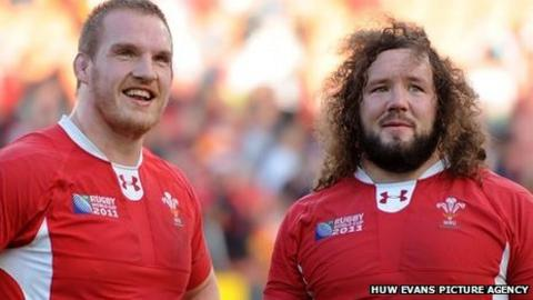 Gethin Jenkins and Adam Jones