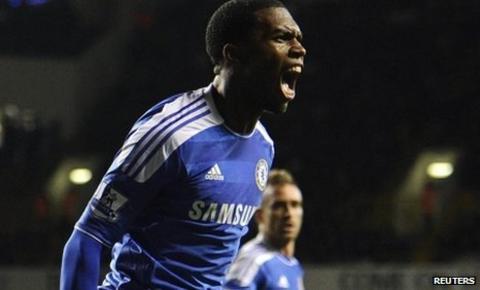 Daniel Sturridge celebrates scoring Chelsea's equaliser