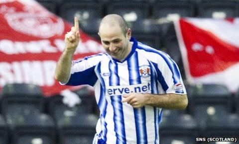 Kilmarnock midfielder Gary Harkins