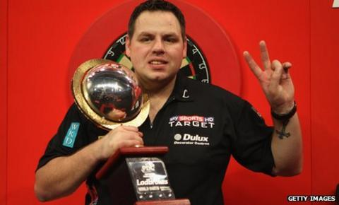 Adrian Lewis beats Andy Hamilton in the final of the 2012 PDC World Championship