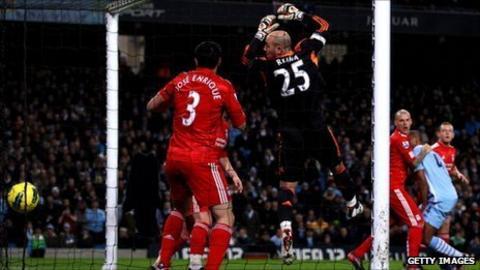 Yaya Toure scores Manchester City's second goal