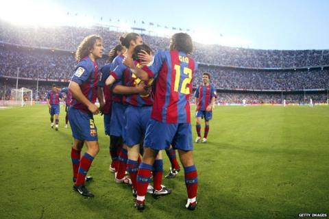 Messi scores his first goal for Barcelona against Albacete