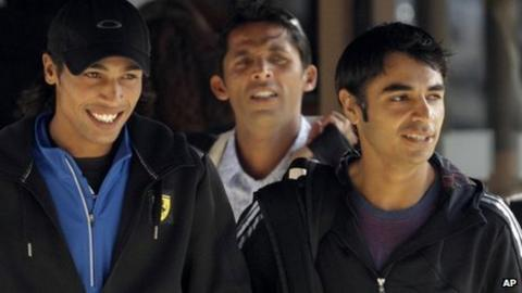 (l-r) Mohammad Amir, Mohammad Asif and Salman Butt