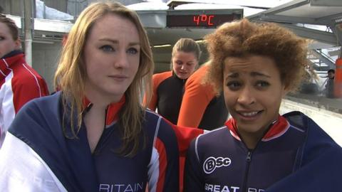 Great Britain duo Mica McNeil and Jazmin Sawyers