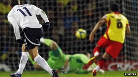 Rafael van der Vaart opens the scoring