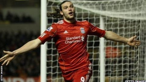 Liverpool striker Andy Carroll