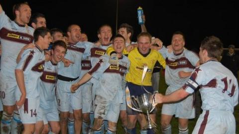 Football: North celebrate winning the Senior County Division One
