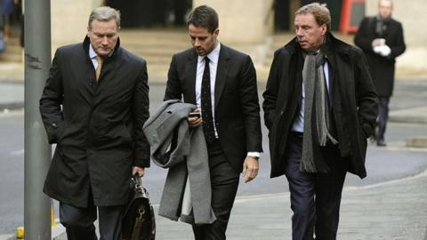 Tottenham manager Harry Redknapp (right)