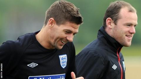 Steven Gerrard and Wayne Rooney