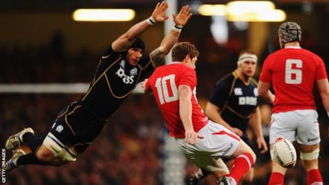 Alasdair Strokosch in action against Wales