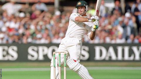 Ricky Ponting hits out against England at Headingley in 2001