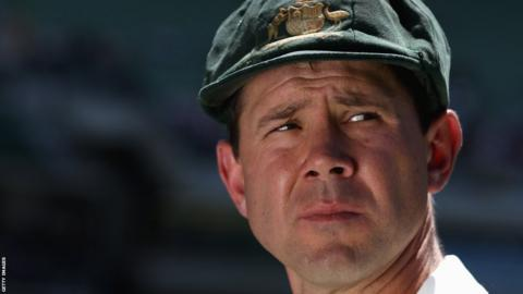 Ricky Ponting after losing the fourth Test in Melbourne in 2010