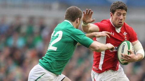 Alex Cuthbert takes on Ireland