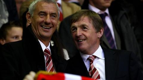Ian Rush with Liverpool manager Kenny Dalglish
