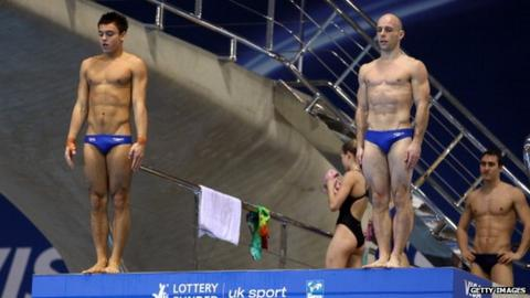 Tom Daley and Peter Waterfield