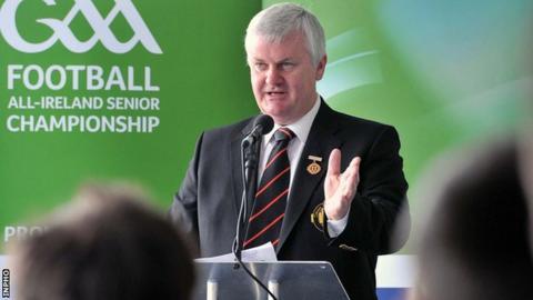 Ulster GAA president Aogan Farrell