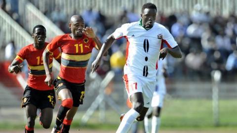 McDonald Mariga (right) is Kenya's best known footballer