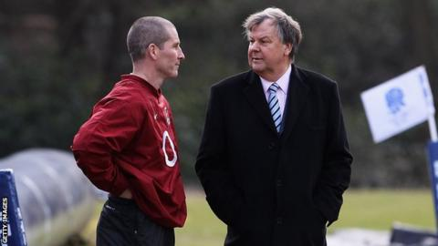 Stuart Lancaster and Ian Ritchie