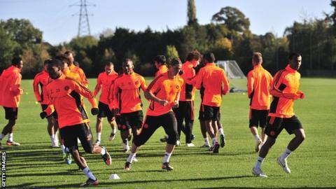Chelsea players training