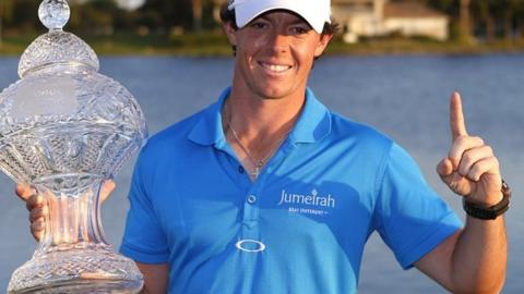 Rory McIlroy with the Honda Classic trophy