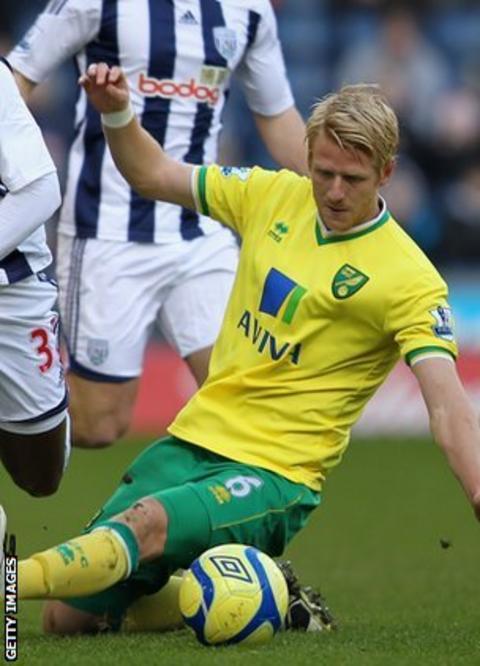 Norwich City defender Zak Whitbread