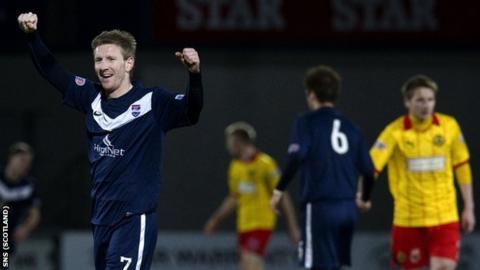 Ross County goalscorer Michael Gardyne