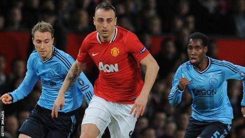 Manchester United striker Dimitar Berbatov