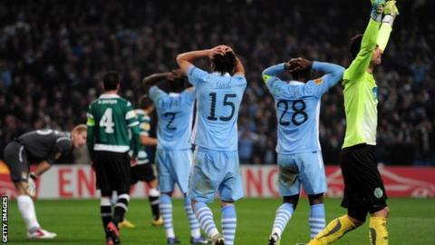 Manchester City's players ran out of time against Sporting Lisbon