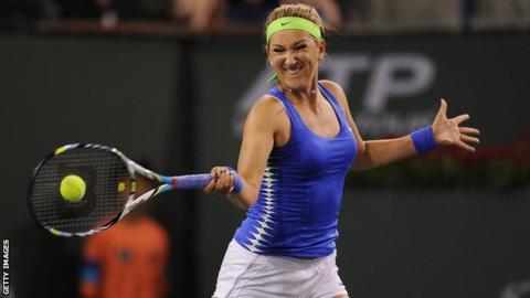 World number one Victoria Azarenka at Indian Wells