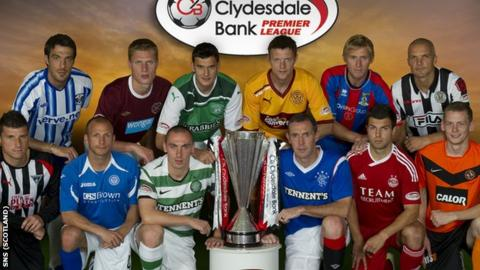 Scottish Premier League clubs will meet on 12 April