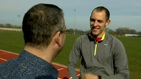 Dai Greene meets Londoner Matt de Monte, a fan who contacted him to