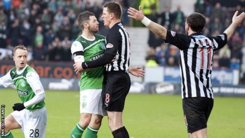 Hibs and Dunfermline are in a head-to-head relegation battle in the SPL